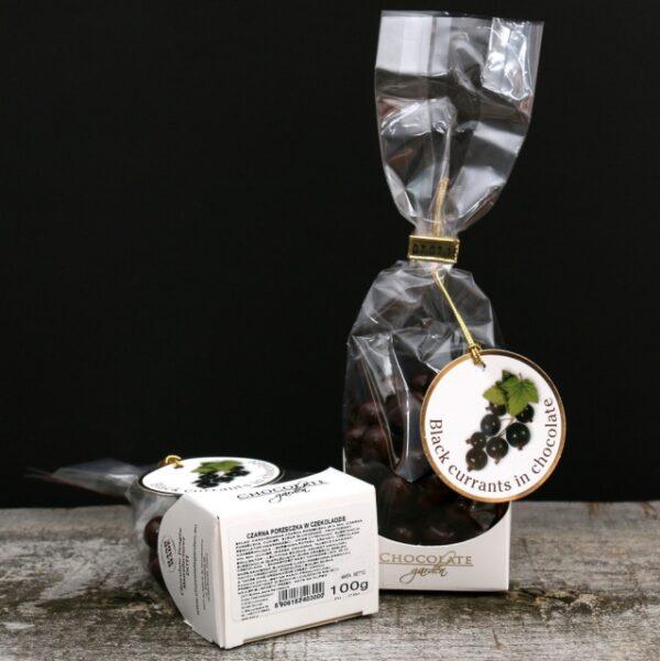 Czarne porzeczki w czekoladzie 100g