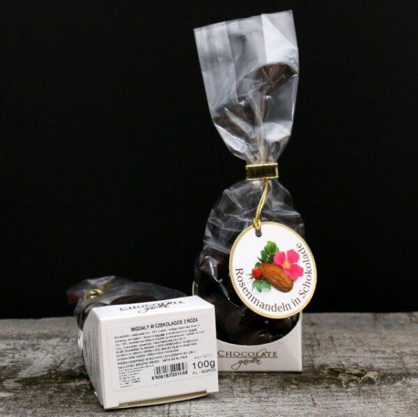 Migdały w czekoladzie z różą