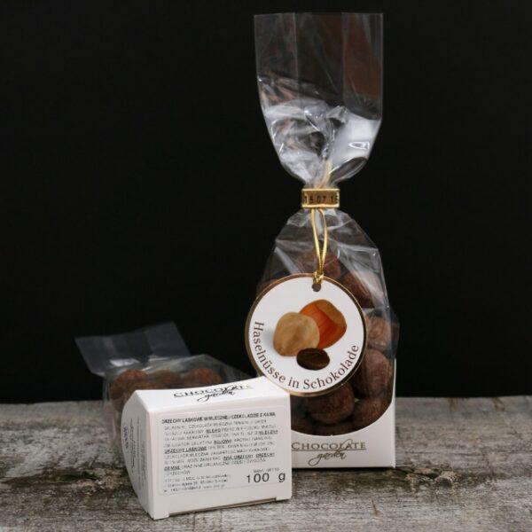 Orzechy laskowe w czekoladzie mlecznej i kawie