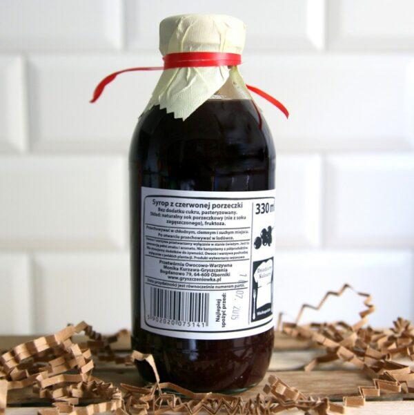 Syrop z czerwonej porzeczki 330 ml