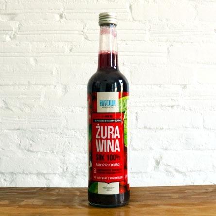 100% sok z żurawiny
