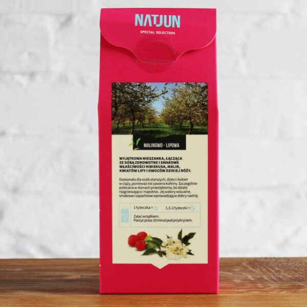 Herbata Owocowa Malinowo Lipowa 100g