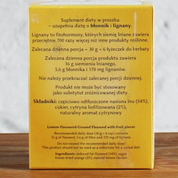 Len mielony cytrynowy z kawałkami owoców 150 g