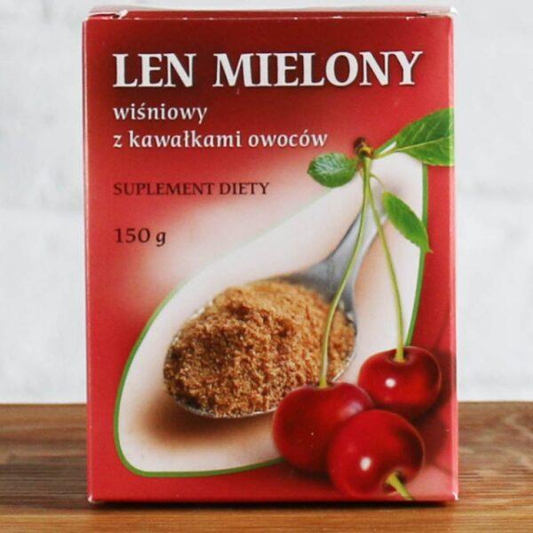 Len mielony wiśniowy z kawałkami owoców 150 g