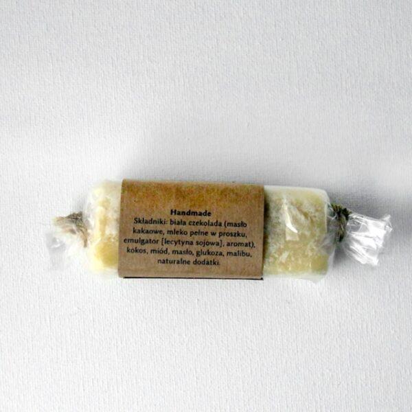Baton Miodowy Trufla z Białej Belgijskiej Czekolady 80 g