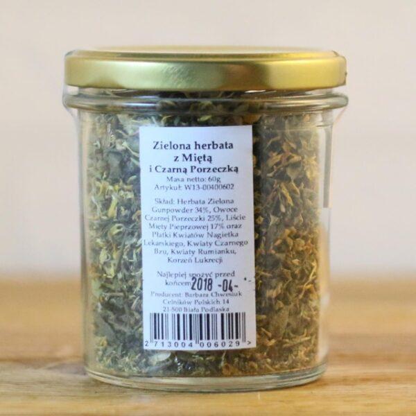 Zielona herbata z Miętą i Czarną Porzeczką 60g