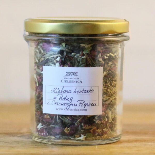 Zielona herbata z Różą i Czerwonym Pieprzem 60 g