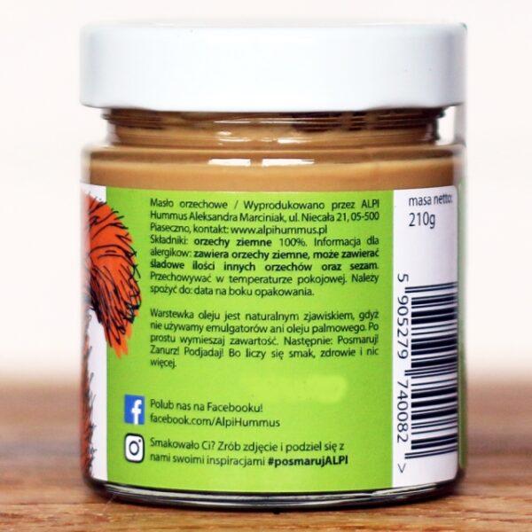 Masło orzechowe naturalne 210g