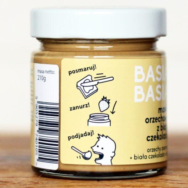 Masło orzechowe z białą czekoladą 210g