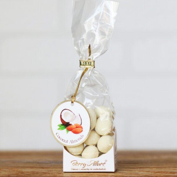 Migdały w białej czekoladzie z kokosem