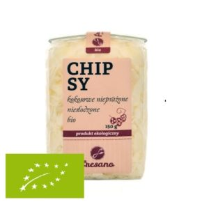 Chipsy kokosowe nieprażone niesłodzone BIO 150 g