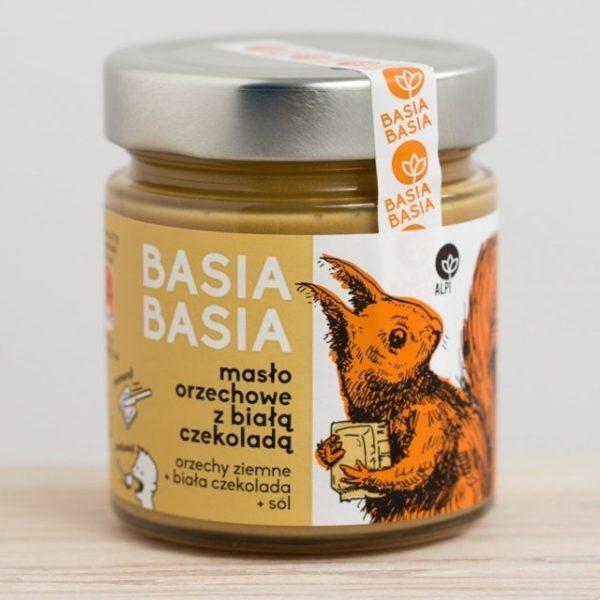 Masło orzechowe z białą czekoladą Basia Basia 210g