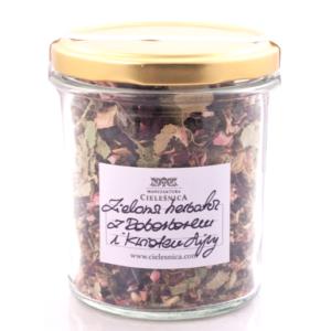 Zielona herbata z rabarbarem i kwiatem lipy 60 g