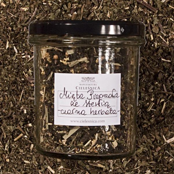 Czarna herbata mięta pieprzowa ze stewią 60 g