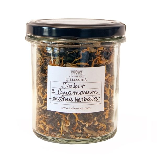 Czarna herbata cynamon z imbirem 60 g