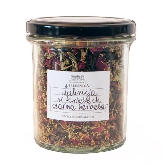 Czarna herbata lukrecja w kwiatach 60 g