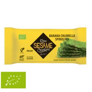 Raw Sezamki Banana Chlorella Spirulina