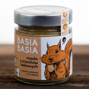 Masło z orzechów laskowych Basia Basia 210g