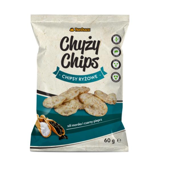 Chyży chipsy ryżowe sól morska i pieprz 60g