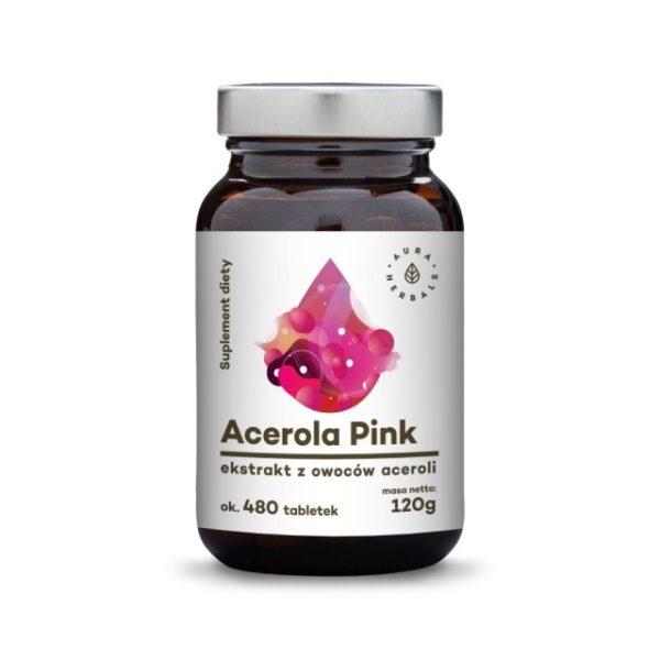 Acerola Pink 25% - ekstrakt z owoców w tabletkach (120g) - Suplement diety
