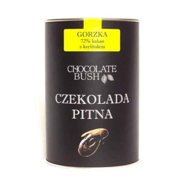 Czekolada gorzka 72% kakao z ksylitolem do picia 200g