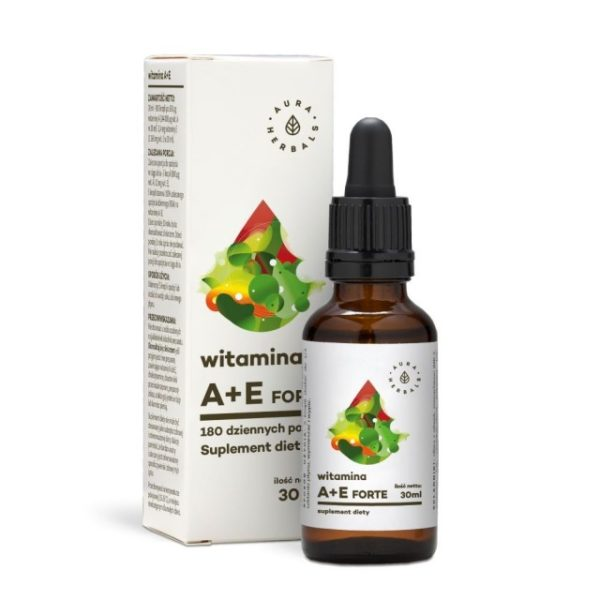 Witamina A + E Forte - Suplement diety w kroplach (30ml)