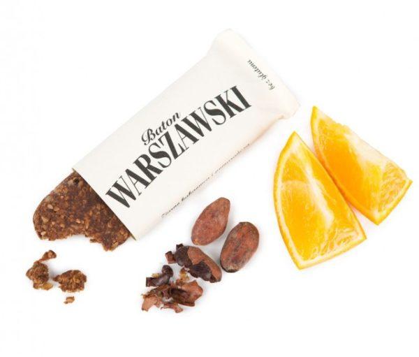 Baton Warszawski Ziarno kakaowca i BIO pomarańcza (wegański)