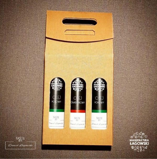 Oleje smakowe zestaw 3x250ml - 2pomidorowy, 1 porowy
