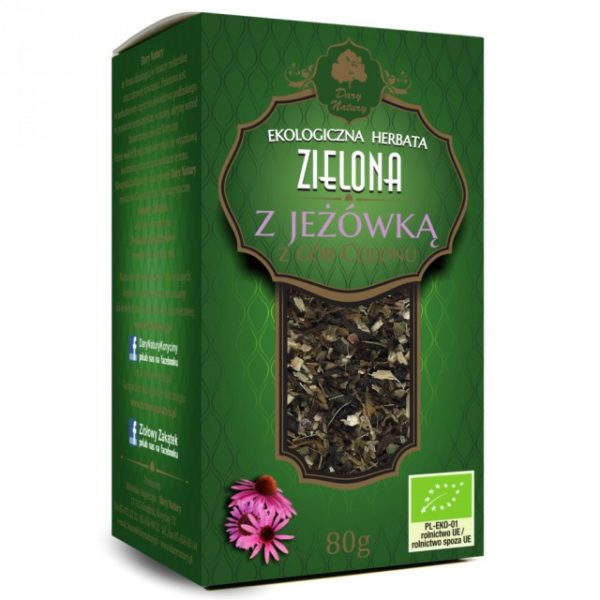 Herbata Zielona z Jeżówką EKO 80g