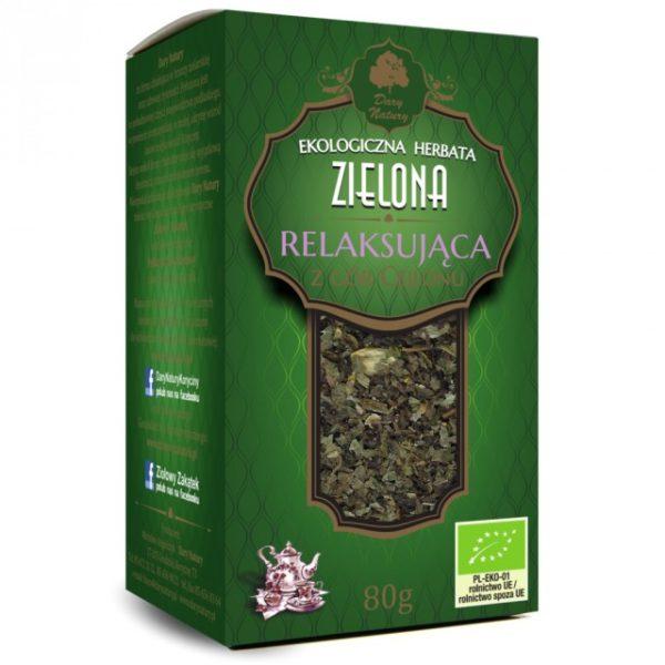 Herbata Zielona Relaksująca EKO 80g