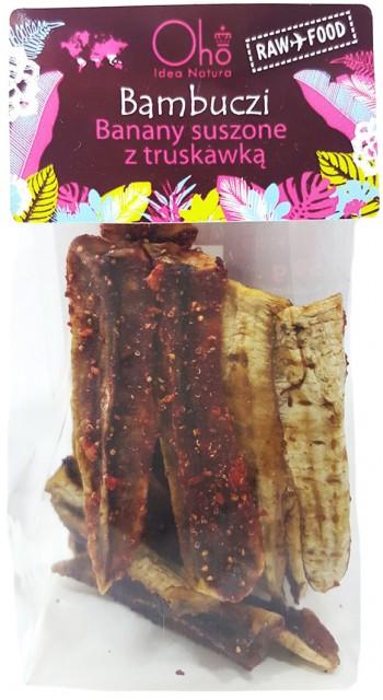 Banany suszone z truskawką BAMBUCZI 50 g