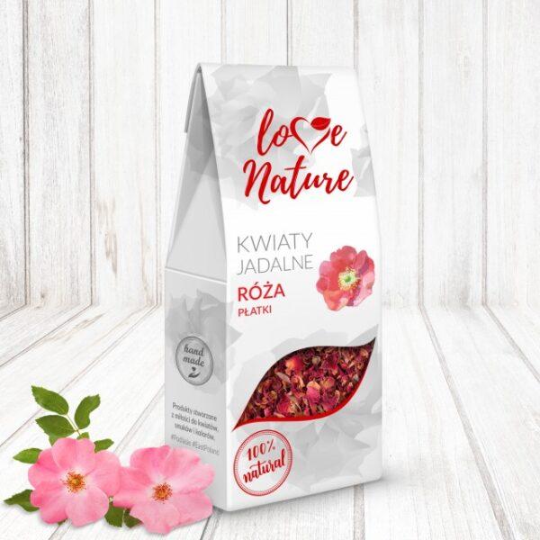 Kwiaty jadalne róża płatki 20g