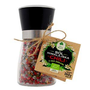 Sól Himalajska chili z EKO ziołami w młynku 160g