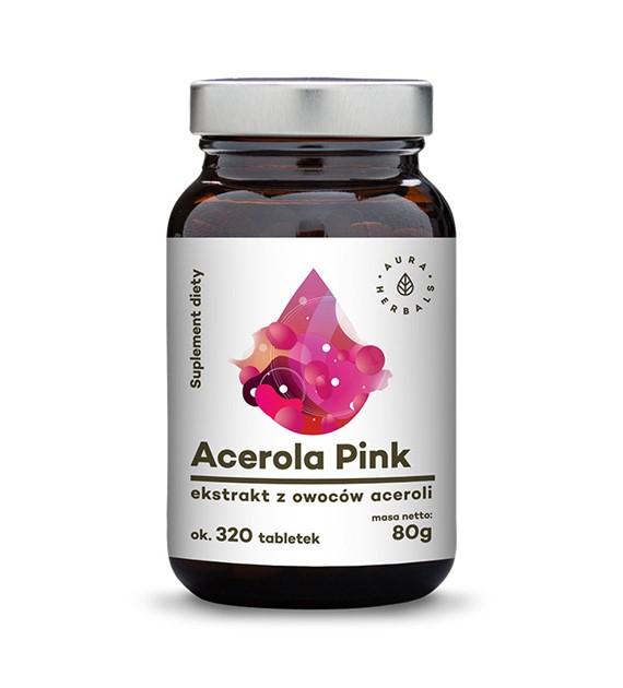 Acerola Pink 25% - ekstrakt z owoców w tabletkach (80g) - Suplement diety