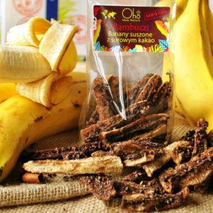 Banany suszone z surowym kakao BAMBUCZI 50 g