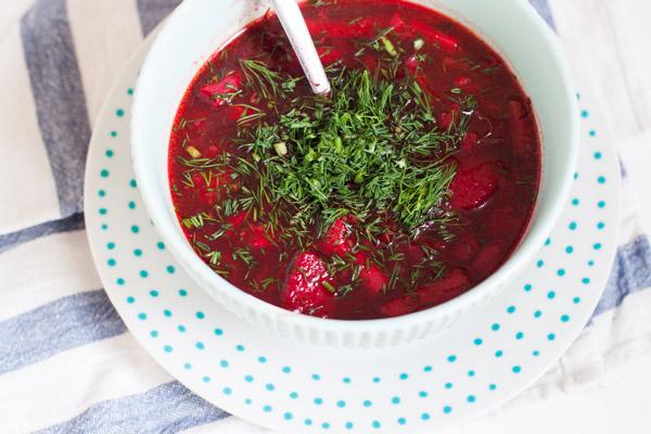 Wiosenna zupa z quinoa