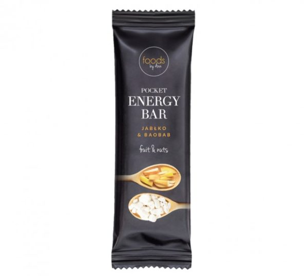 POCKET ENERGY BAR JABŁKO & BAOBAB 35G