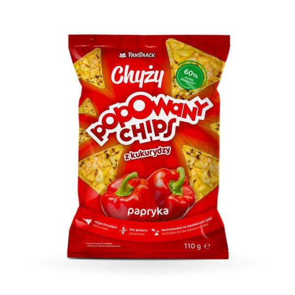 Chyży Popowany Chips z kukurydzy. Papryka 110G