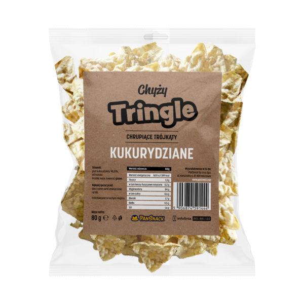 Chyży Tringle, chrupiące trójkąty kukurydziane 80G