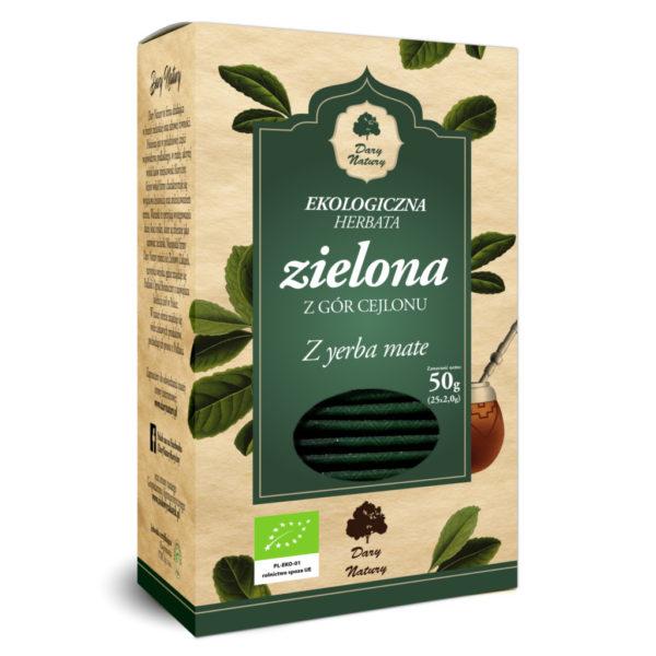 Herbata zielona z Yerba Mate EKO (25x2g) ekspresowa