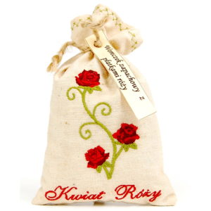 Woreczek zapachowy z kwiatem róży