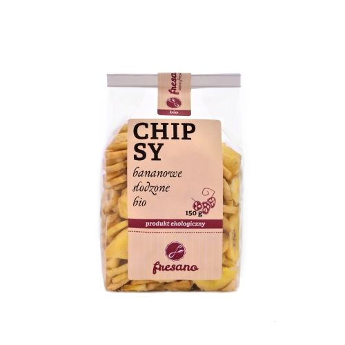 Chipsy bananowe słodzone BIO 150 g