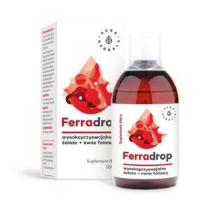 Ferradrop - żelazo + kwas foliowy - płyn 500ml