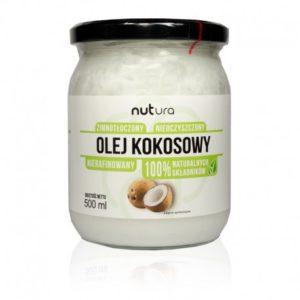 Olej kokosowy tłoczony na zimno, nierafinowany 500 ml