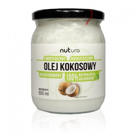 Olej kokosowy tłoczony na zimno, nierafinowany 500ml