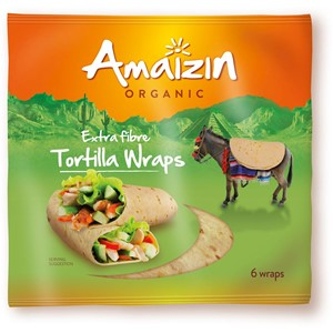 Tortilla Wraps z otrębami (źródło błonnika pokarmowego) BIO 240g