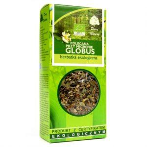 """Herbatka polecana przy migrenie """"globus"""" eko 50 G"""