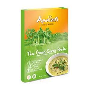 Pasta curry thai green BIO 80g