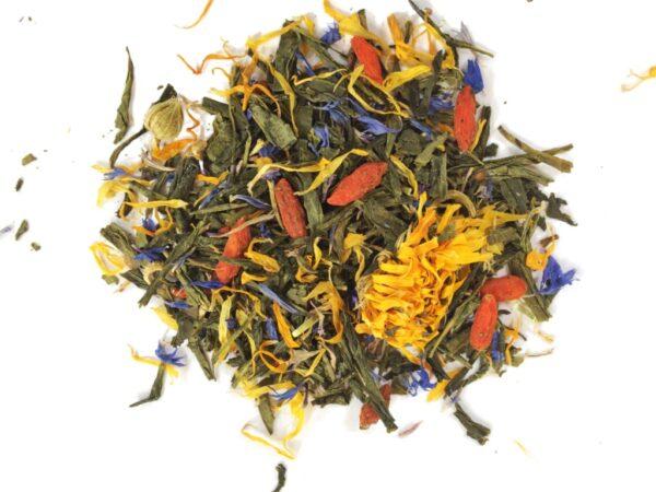 Sencha Goji. Herbata zielona Sencha z owocami goji 80G