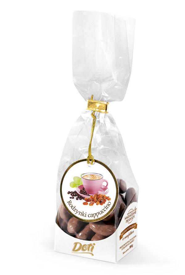 Rodzynki królewskie cappuccino w białej czekoladzie 100g